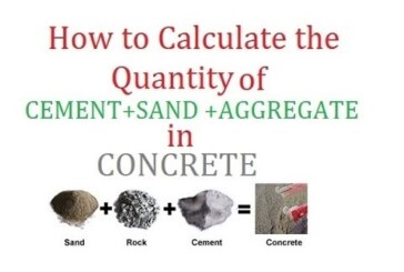 CALCULATION OF MATERIALS FOR DIFFERENT MIX RATIO OF CONCRETE