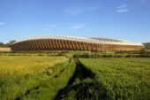 Green Technology- World's First Timber Football Stadium by Zaha Hadid Architects